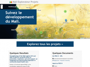 Our prototype multi-donor portal of aid to Mali