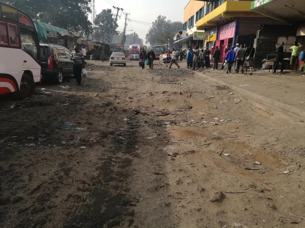 A pothole in Kenya